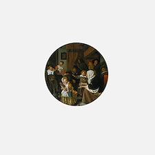 Feast of St. Nicholas; Jan Steen paint Mini Button