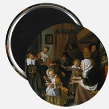 Feast of St. Nicholas; Jan Steen painting Magnet