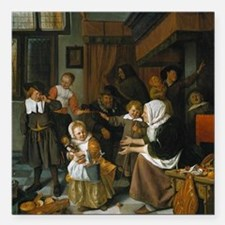 "Feast of St. Nicholas; J Square Car Magnet 3"" x 3"""