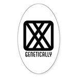 Genetically : Female Oval Sticker