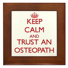 Keep Calm and Trust an Osteopath Framed Tile