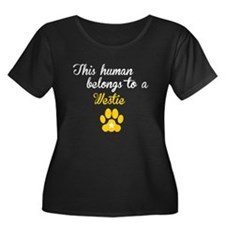 This Human Belongs To A Westie Plus Size T-Shirt