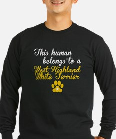 This Human Belongs To A West Highland White Terrie