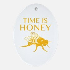 Time Is Honey Ornament (Oval)