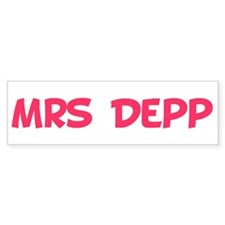 Mrs Depp Bumper Bumper Sticker