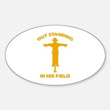 Out Standing In His Field Decal