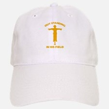 Out Standing In His Field Baseball Baseball Cap