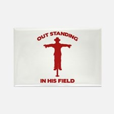 Out Standing In His Field Rectangle Magnet (100 pa