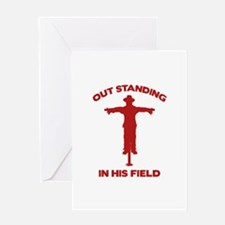 Out Standing In His Field Greeting Card