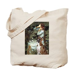 Ophelia & Brindle Boxer Tote Bag