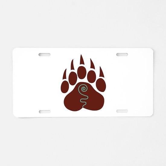 Native American Bear Claw Aluminum License Plate