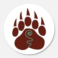 Native American Bear Claw Round Car Magnet