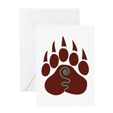 Native American Bear Claw Greeting Cards