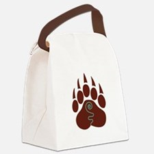 Native American Bear Claw Canvas Lunch Bag