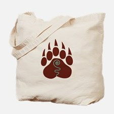 Native American Bear Claw Tote Bag