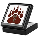 Native american bear Keepsake Boxes