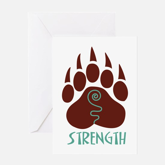 STRENGTH Greeting Cards