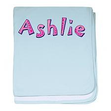 Ashlie Pink Giraffe baby blanket