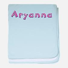 Aryanna Pink Giraffe baby blanket