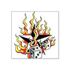 """Flames Square Sticker 3"""" x 3"""""""