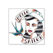 """Hello Sailor Square Sticker 3"""" x 3"""""""