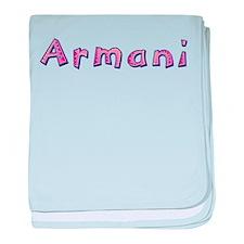 Armani Pink Giraffe baby blanket