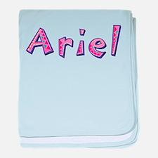 Ariel Pink Giraffe baby blanket