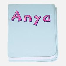 Anya Pink Giraffe baby blanket