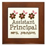 Personalized Assistant Principal Framed Tile