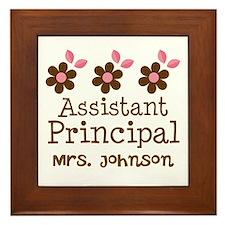 Personalized Assistant Principal Framed Tile