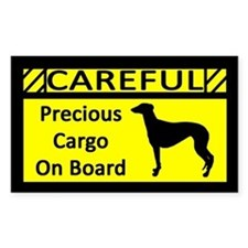 Precious Cargo Greyhound Rectangle Decal
