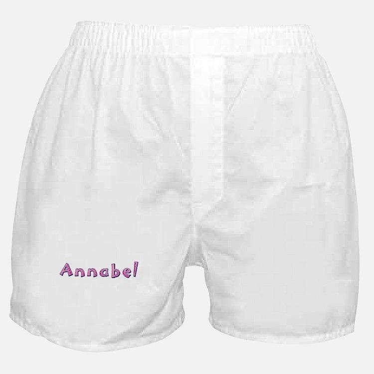 Annabel Pink Giraffe Boxer Shorts