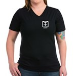 Identity : Female Women's V-Neck Dark T-Shirt