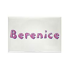 Berenice Pink Giraffe Rectangle Magnet