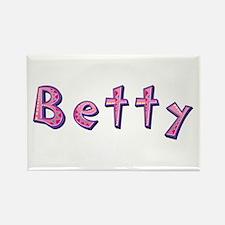 Betty Pink Giraffe Rectangle Magnet