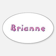 Brianne Pink Giraffe Oval Decal