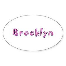 Brooklyn Pink Giraffe Oval Decal