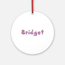 Bridget Pink Giraffe Round Ornament