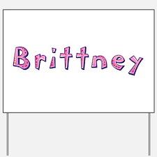 Brittney Pink Giraffe Yard Sign