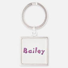 Bailey Pink Giraffe Square Keychain
