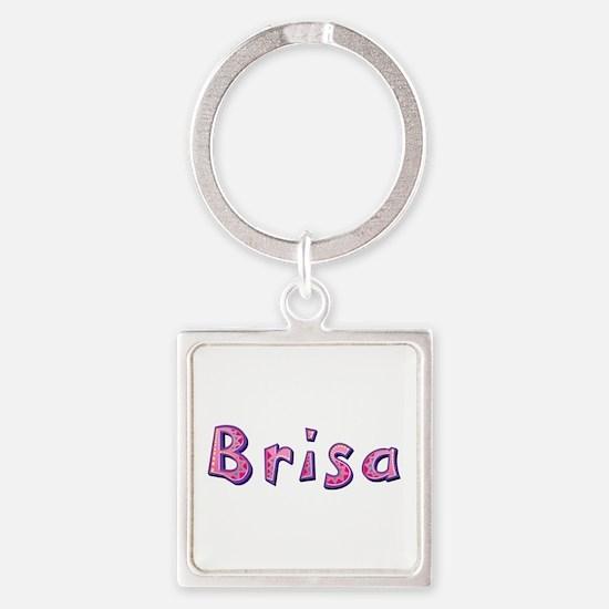 Brisa Pink Giraffe Square Keychain
