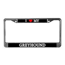 Love Greyhound License Plate Frame