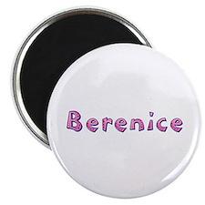 Berenice Pink Giraffe Round Magnet