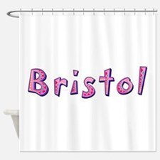 Bristol Pink Giraffe Shower Curtain