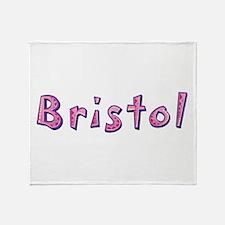 Bristol Pink Giraffe Throw Blanket