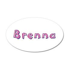 Brenna Pink Giraffe 20x12 Oval Wall Decal