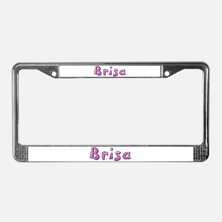 Brisa Pink Giraffe License Plate Frame