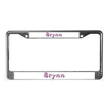 Brynn Pink Giraffe License Plate Frame