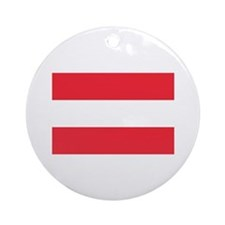 Austrian Flag Ornament (Round)