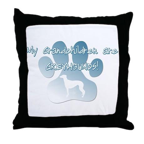 Greyhound Grandchildren Throw Pillow